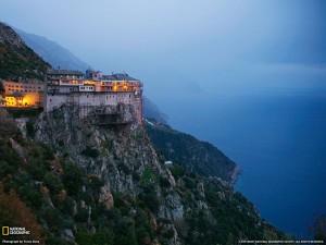 Монастырь Симонапетра на Афоне в Греции