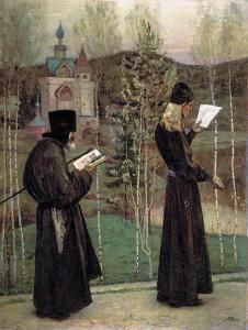 """Михаил Васильевич Нестеров  """" Под благовест"""", 1897"""